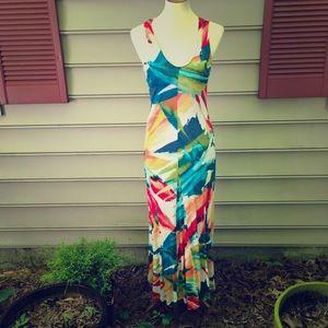 Tommy Bahama Bold Sleeveless Maxi Dress Medium